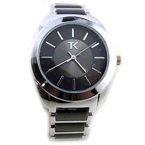Les Tresors De Lily N2302 Armbanduhr fuer frauen Trendy silberfarben schwarz