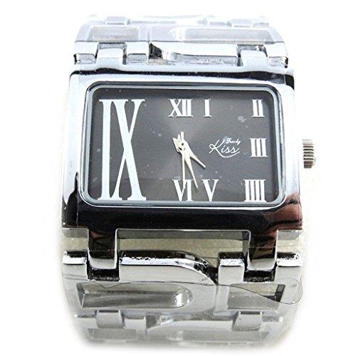 Les Tresors De Lily N2304 Armbanduhr fuer frauen Trendy silberfarben schwarz