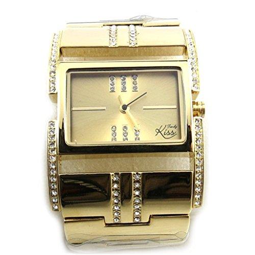 Les Tresors De Lily N2305 Armbanduhr fuer frauen Trendy goldfarben