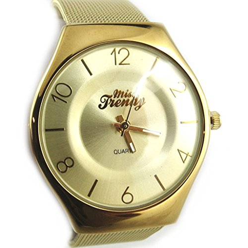 Les Tresors De Lily N2328 Armbanduhr fuer frauen Trendy goldfarben