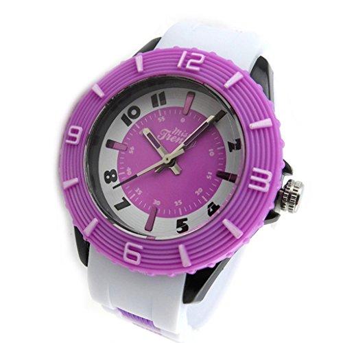 Armbanduhr tochter Trendypurpur weiss