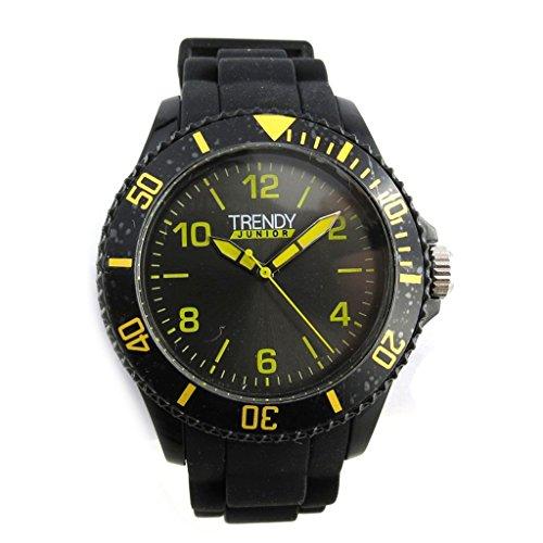 Armbanduhr kind Trendyschwarz gelb