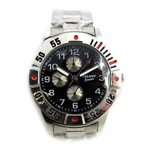 Armbanduhr kind Trendysilberfarben schwarz