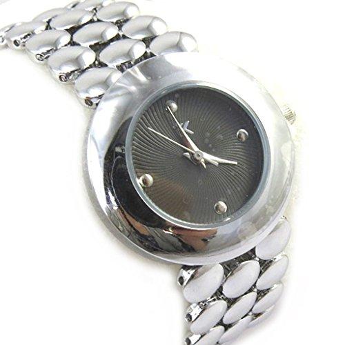 Armbanduhr fuer frauen Trendysilbergrau