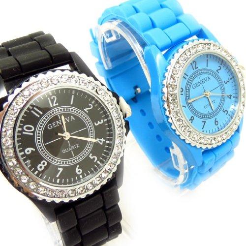 Set aus 2 armbanduhr Absolublau