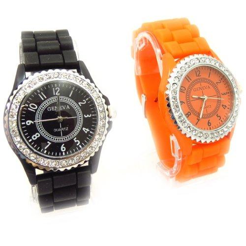 Set aus 2 armbanduhr Absoluorange