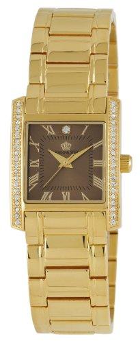Herzog Soehne Armbanduhr braun gold 27x33