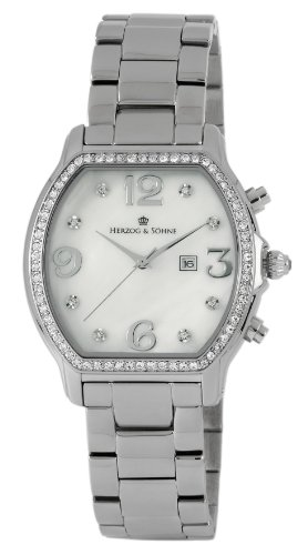 Herzog Soehne Armbanduhr weiss silber 37 mm
