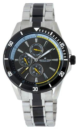 Herzog Soehne Armbanduhr weiss silber 42 mm