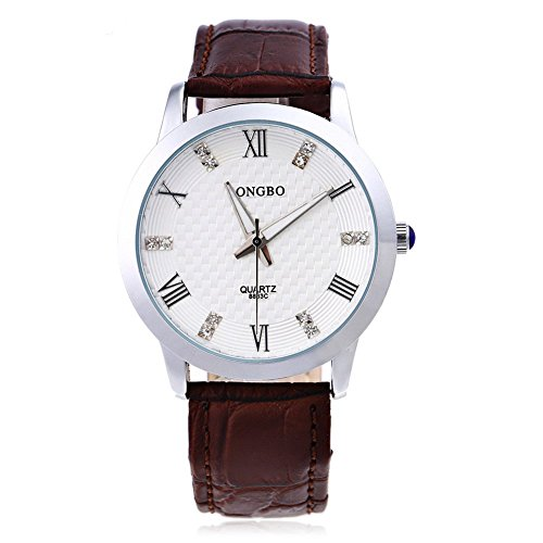 Leopard Shop Longbo 8863 G Stecker Quarzuhr Luminous Pointer roemischen Ziffern Display Armbanduhr Wasser Widerstand 5