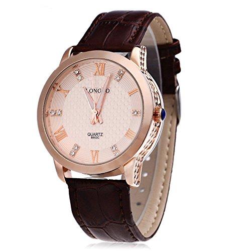 Leopard Shop Longbo 8863 G Stecker Quarzuhr Luminous Pointer roemischen Ziffern Display Armbanduhr Wasser Widerstand 2