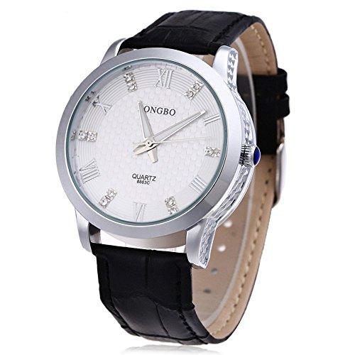 Leopard Shop Longbo 8863 G Stecker Quarzuhr Luminous Pointer roemischen Ziffern Display Armbanduhr Wasser Widerstand 4