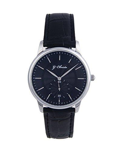 G CHRISTA KSG 608onyx Armbanduhr Unisex Onyx schwarz Edelstahl Watch Damen Herren