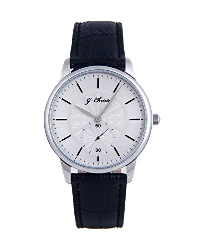 G CHRISTA KSG 608weiss Armbanduhr Unisex Onyx schwarz Edelstahl Watch Damen Herren