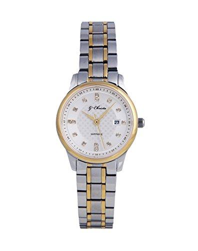 G CHRISTA KSG 609L Armbanduhr Watch Damen Damenarmbanduhr Damenuhr Gold Silber