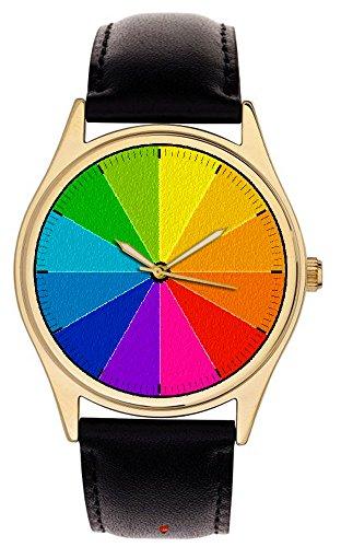 Es ist 13 30 lila Lovely Vintage Farbe Rad Strukturierte Zifferblatt 40 mm Freund Unisex Armbanduhr auffaelligen Farben