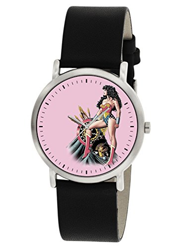Classic Pink Wonder Woman Vintage Original Comic Art Girl Power Armbanduhr 30 mm