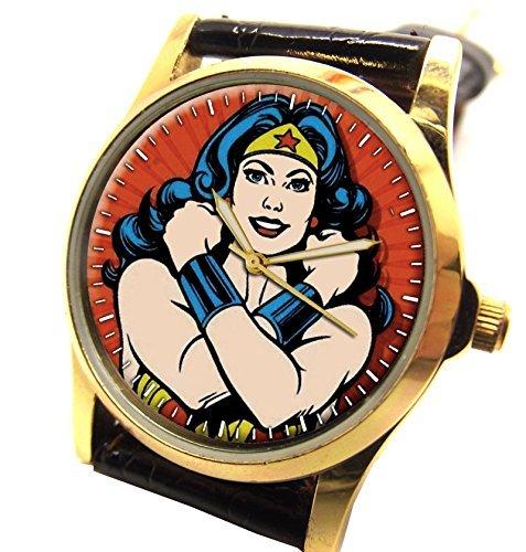 Stark Wie Wonder Woman Classic Superhelden Art Armbanduhr perfekt fuer den Fragen Frau in ihrem Leben