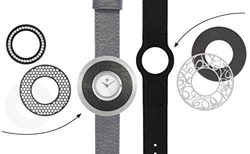 Deja vu Uhr Set me50 Uhr C101 metallic grau schwarz