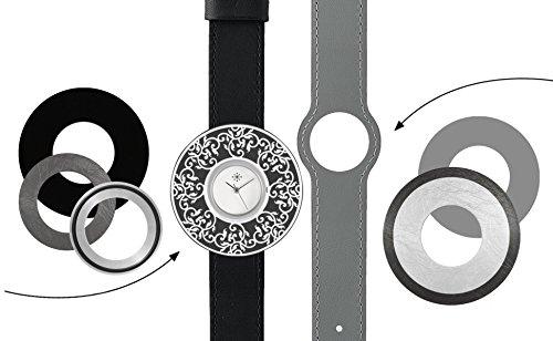 Deja vu Uhr Set 291 Uhr C101 schwarz grau