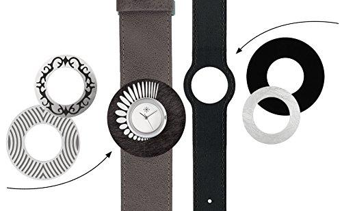 Deja vu Uhr Set 259 Uhr C101 schwarz graubraun