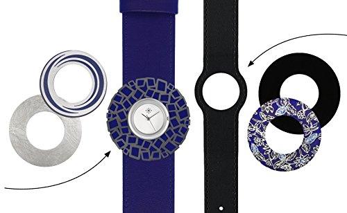 Deja vu Uhr Set 283 Uhr C101 schwarz indigo