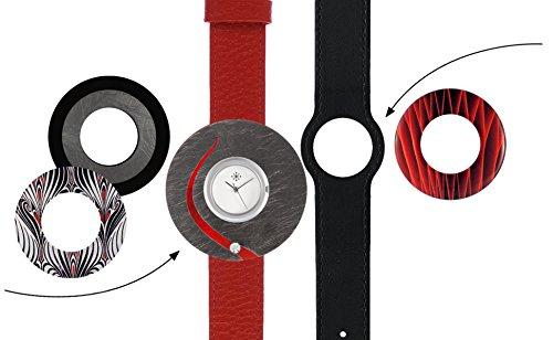 Deja vu Uhr Set 258 Uhr C101 schwarz rot