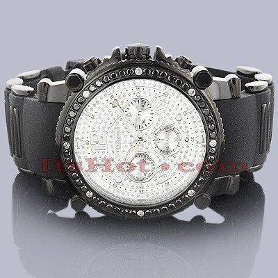 Jojino Anderson Schwarz Dia j 1172 47 90 mm Rund Herren Diamant Armbanduhr schwarz