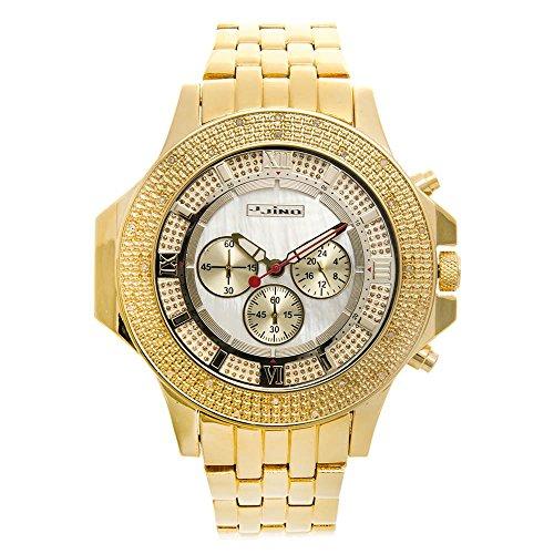 Jojino Arizona mj 1203 61 80 mm rund Herren Diamant Uhr gelb