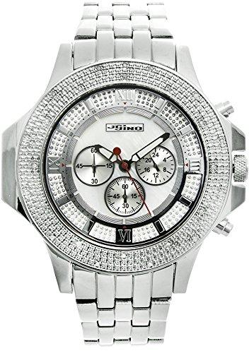 Jojino Arizona mj 1204 61 80 mm rund Herren Diamant Uhr weiss