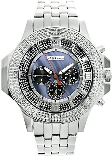 Jojino Arizona mj 1205 61 80 mm rund Herren Diamant Uhr weiss