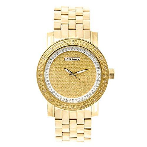Jojino Bahamas mj 1176 51 30 mm Rund Herren Diamant Uhr gelb