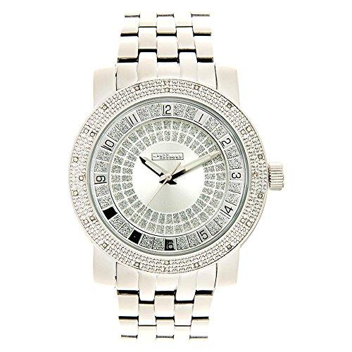 Jojino Bahamas mj1201 51 30 mm Rund Herren Diamant Uhr weiss