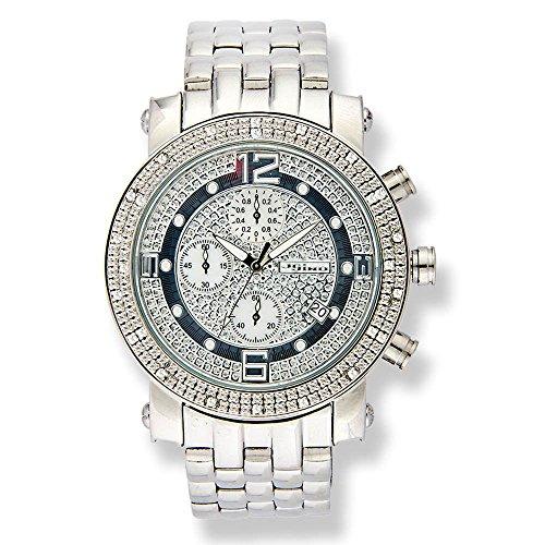 Jojino Brasilien mj 1054 a 48 30 mm rund Herren Diamant Uhr weiss