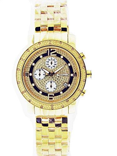 Jojino Herren 46 mm rund 0 25 ct Diamant Armbanduhr mj1056 a