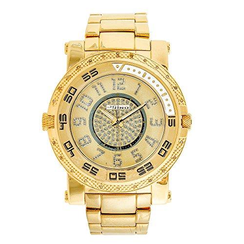 Jojino Kanada mj 1227 57 55 mm Rund Herren Diamant Uhr gelb