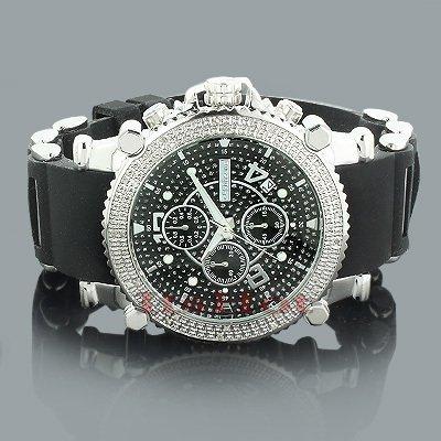 Jojino Aruba mj 1131 50 30 mm Rund Herren Diamant Uhr weiss
