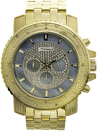 Jojino Golf mj 1206 55 50 mm Rund Herren Diamant Uhr gelb