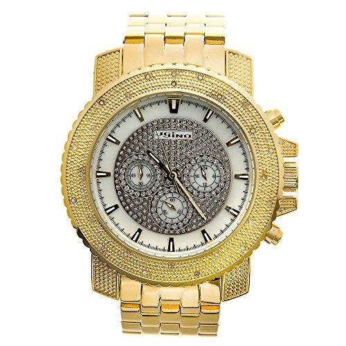 Jojino Golf mj 1207 55 50 mm Rund Herren Diamant Uhr gelb