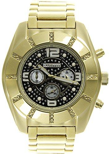 Jojino Royal mj 1214 53 50 mm Rund Herren Diamant Uhr gelb
