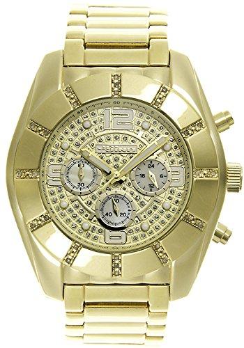 Jojino Royal mj 1215 53 50 mm Rund Herren Diamant Uhr gelb
