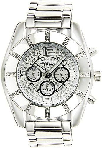 Jojino Royal mj 1217 53 50 mm Rund Herren Diamant Uhr weiss