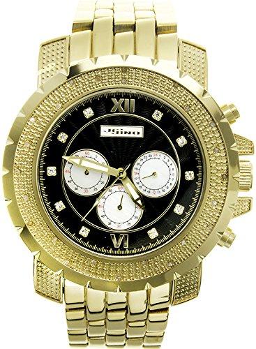Jojino Tempo mj 1218 55 70 mm Rund Herren Diamant Uhr gelb