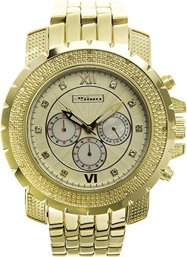 Jojino Tempo mj 1219 55 70 mm Rund Herren Diamant Uhr gelb