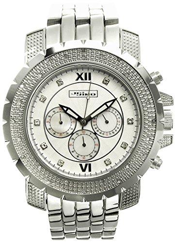 Jojino Tempo mj 1220 55 70 mm Rund Herren Diamant Uhr weiss