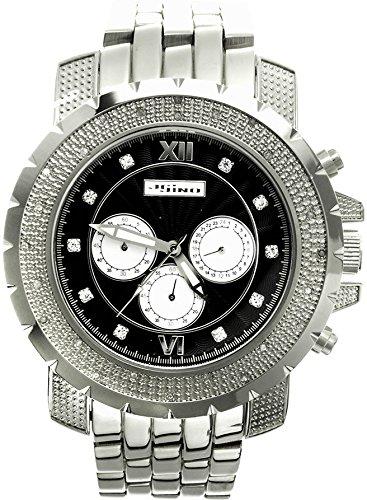 Jojino Tempo mj 1221 55 70 mm Rund Herren Diamant Uhr weiss