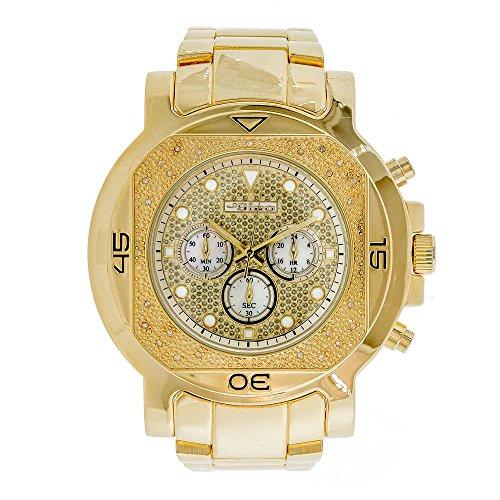 Jojino Monaco mj 1223 59 10 mm rund Herren Diamant Uhr gelb