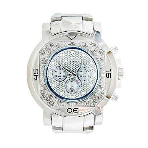 Jojino Monaco mj 1224 59 10 mm rund Herren Diamant Uhr weiss
