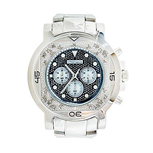 Jojino Monaco mj 1225 59 10 mm rund Herren Diamant Uhr weiss