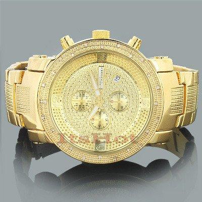 Jojino Nevada mj 1097 53 70 mm rund Herren Diamant Uhr gelb